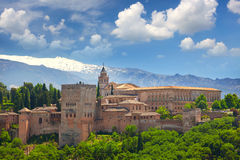 View of the famous Ancient arabic fortress  Alhambra, Granada, S Stock Images