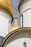 View of Famous The Annunciation Cathedral in Moscow Kremlin, Rus Stock Images