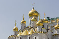 View of Famous The Annunciation Cathedral in Moscow Kremlin, Rus Stock Image