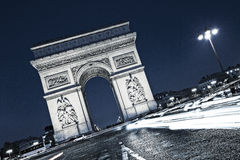 View of famous the Arc de Triomphe Stock Photo