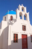 Santorini Cathedral Stock Photography