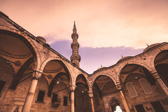 View of the famous Blue Mosque Sultan Ahmet Cami Stock Photos