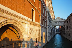 The famous Bridge of Sighs in Venice Stock Photo