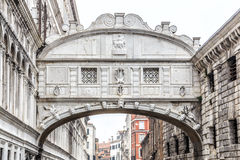 View of the famous Bridge of Sighs in Venice, Italy Royalty Free Stock Image