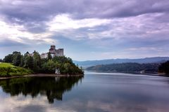 View of the famous castle niedzica at the Poland royalty free stock images