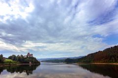 View of the famous castle niedzica at Poland. View of the famous castle niedzica at the Poland stock image