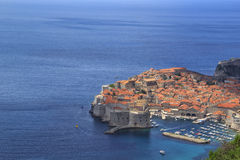 A view of the famous city of Dubrovnik in Croatia. In a sunny day Royalty Free Stock Photos