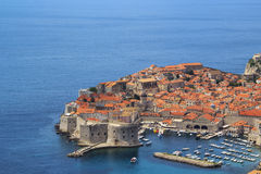 A view of the famous city of Dubrovnik in Croatia. In a sunny day Stock Photos