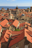 A view of the famous city of Dubrovnik in Croatia. In a sunny day Royalty Free Stock Photography