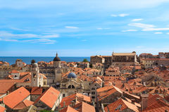 A view of the famous city of Dubrovnik in Croatia. In a sunny day Royalty Free Stock Images