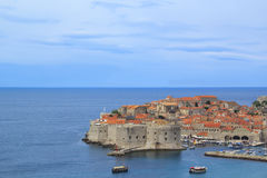 A view of the famous city of Dubrovnik in Croatia. In a sunny day Royalty Free Stock Image