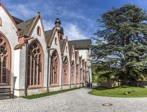 view of famous cloister Eberbach in Germany Stock Photos