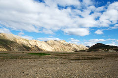 View of famous colored hills in Landmannalaugar area, Iceland Stock Photos