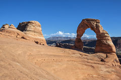 View of the famous Delicate Arch Royalty Free Stock Photos