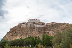 View of the famous fort in Gyantse, Tibet Royalty Free Stock Image