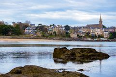 View of the famous French resort town Dinard Royalty Free Stock Images