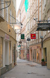 View of famous Getreidegasse street Stock Images