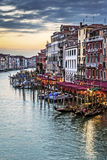 View of famous Grand Canal at sunset Royalty Free Stock Photos