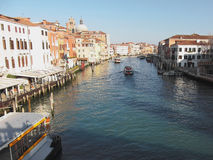 View of famous Grand Canal in Venice, Italy Stock Images