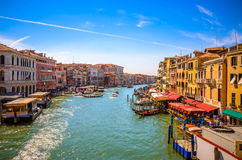 View of famous Grand Canal in Venice, Italy Stock Photography