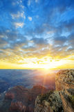 View of famous Grand Canyon at sunrise Stock Photography