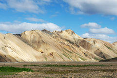 View of famous hills in Landmannalaugar area, Iceland Stock Photos