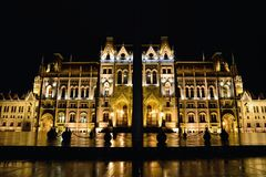 Parliament building in Budapest, capital of Hungary. Royalty Free Stock Images