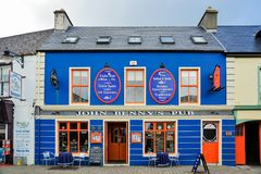 John Benny`s Pub. A view of the famous John Benny`s Pub in Dingle, Ireland Royalty Free Stock Image