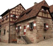 View at the famous  Kaiserburg Imperial Castle in Nuremberg, Ger Stock Photos