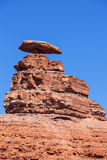 View of the famous Mexican Hat Monument Royalty Free Stock Image