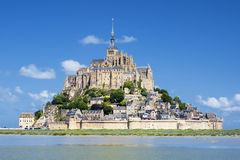 View of famous Mont-Saint-Michel. France, Europe Royalty Free Stock Images