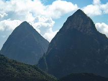 Deux pitons stock photography