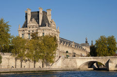 View of the famous museum Louvre Royalty Free Stock Photography