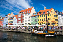 View of the famous Nyhavn in Summer, Copenhagen Royalty Free Stock Photography