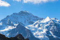 View of the famous peak Jungfrau Royalty Free Stock Photo