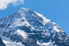 View of the famous peak Monch Royalty Free Stock Images