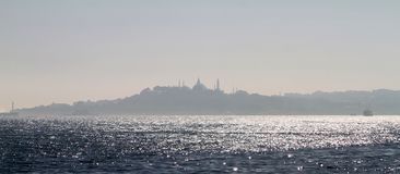 View of the Famous peninsula of Istanbul. Photos of the city of Istanbul, the pearl of the world. Turkey Royalty Free Stock Photos