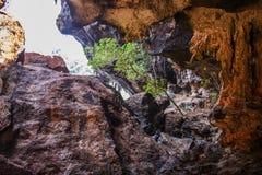 View in famous Phranang cave at Raylay Railay Beach. Krabi : Thailand Royalty Free Stock Photo