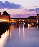 View of the famous Ponte Vecchio stock photos