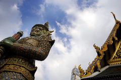 View of famous religion temple wat phra prakaew grand palace in Bangkok Thailand Stock Images
