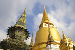 View of famous religion temple wat phra prakaew grand palace in Bangkok Thailand Royalty Free Stock Photography