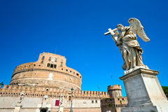 Saint Angel castle, Rome, Italy. Stock Image
