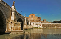 View on famous Saint Angel castle Rome, Italy. royalty free stock photos