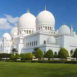 View of famous Sheikh Zayed Grand Mosque Royalty Free Stock Images