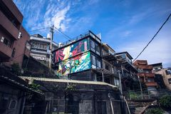 Jiufen. View of the famous small mountain town at Jiufen royalty free stock images