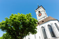 View on famous St.Johann church, Schaffhausen, Switzerland. Royalty Free Stock Photos