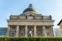 View of famous State chancellery - Staatskanzlei in Munich, Germany royalty free stock photos