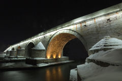 A view of a famous Stone bridge in Skopje Stock Photos