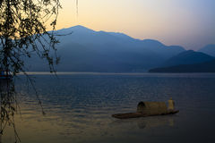 A view of the famous Sun Moon Lake. For adv or others purpose use royalty free stock images