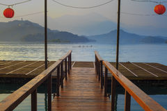 A view of the famous Sun Moon Lake. For adv or others purpose use royalty free stock photo